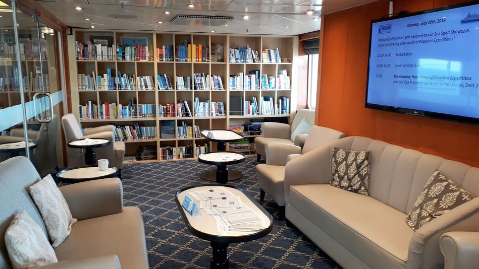 Library, Sea Spirit, Poseidon Expeditions
