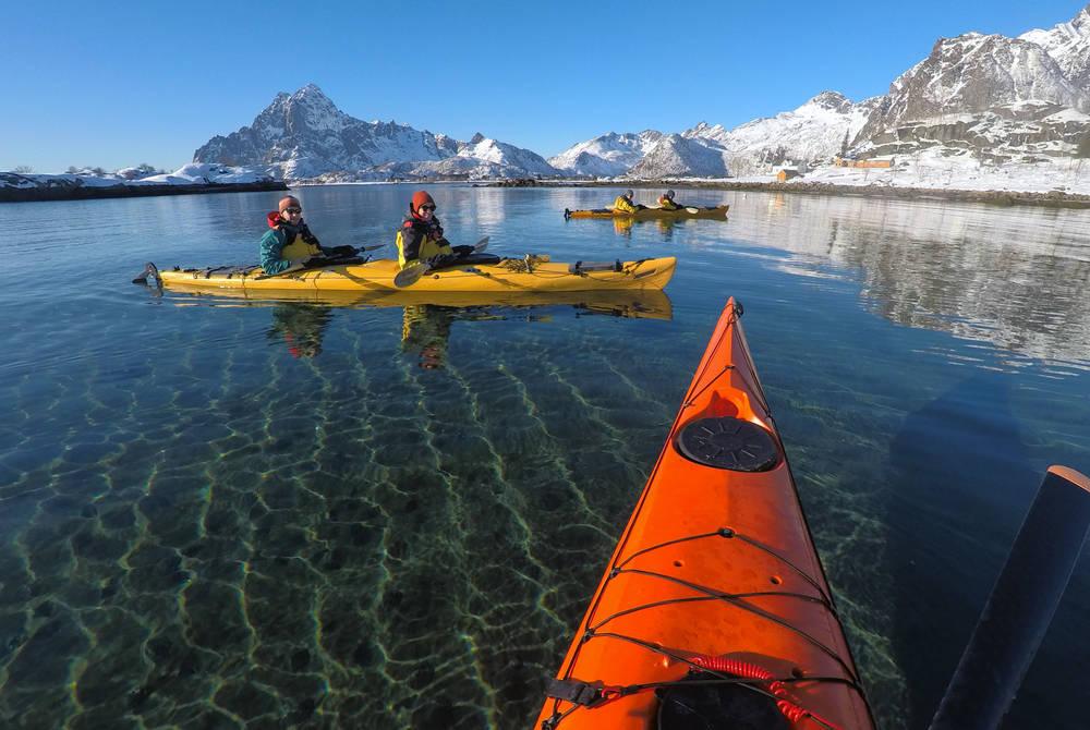 Sea kayaking, Lofoten Islands