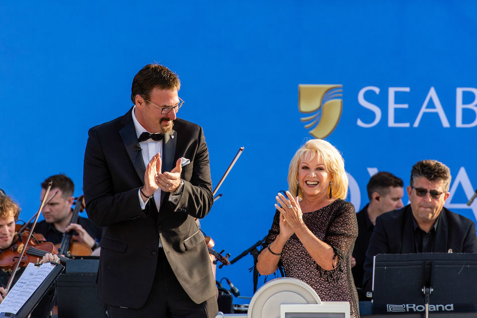 Seabourn Ovation Naming Ceremony with Elaine Paige OBE