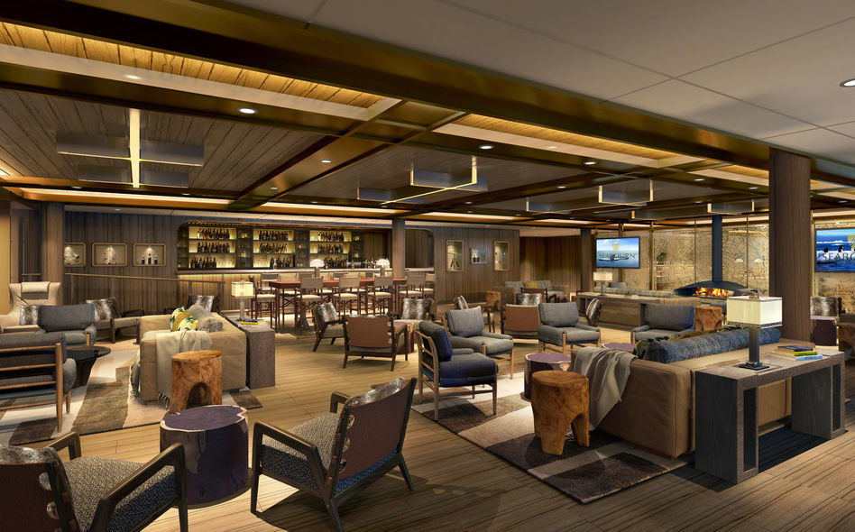 Expedition Lounge on Seabourn Venture