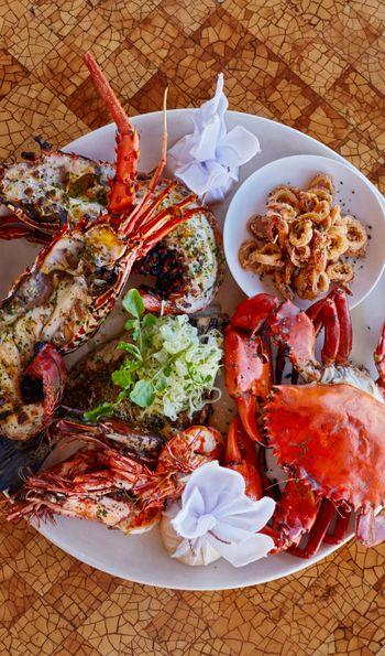 Seafood platter, Amankila