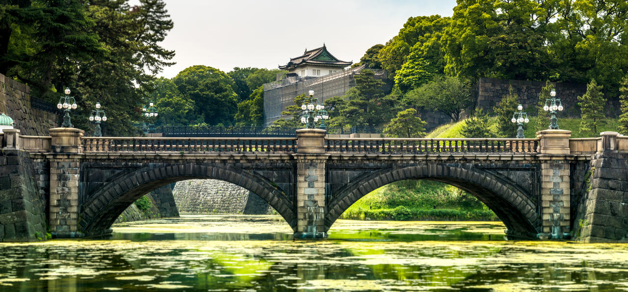 Seimon Ishibashi stone bridge at Tokyo Imperial Palace