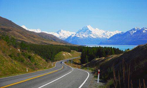 Route to Mt. Cook