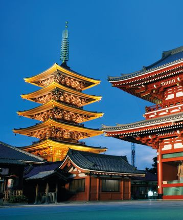 Sensoji Temple, Tokyo in Japan