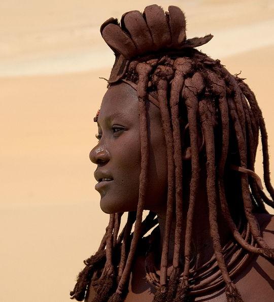Himba tribeswoman, Serra Cafema, Namibia