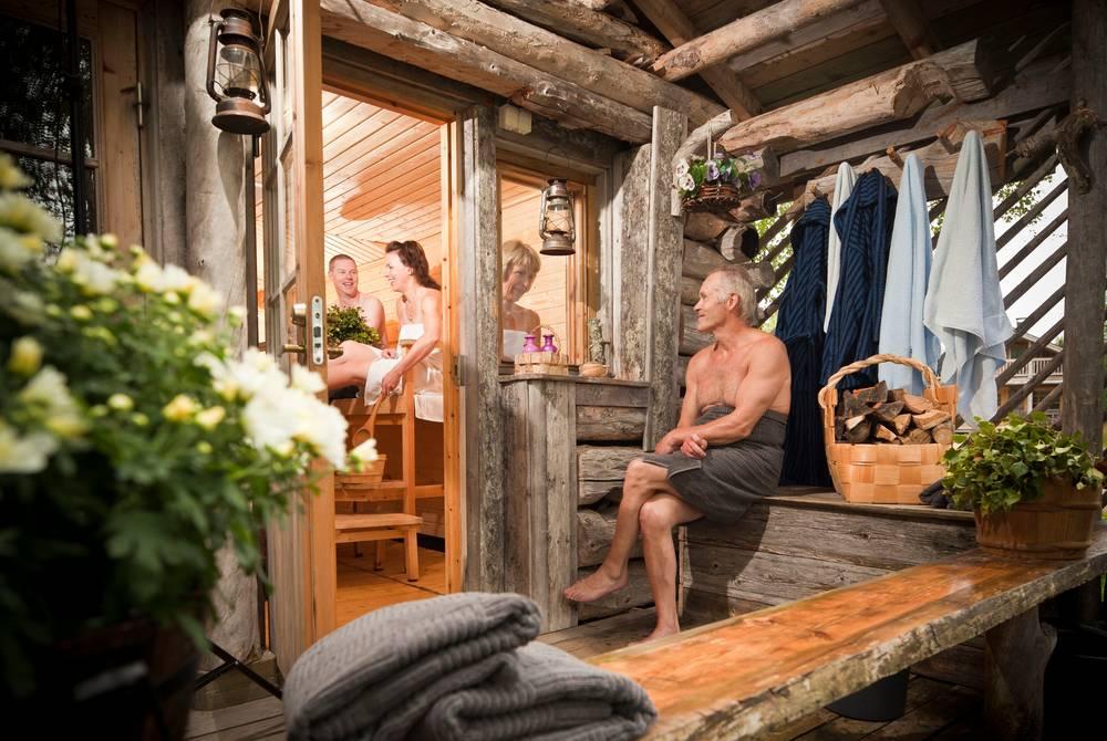 Traditional sauna experience