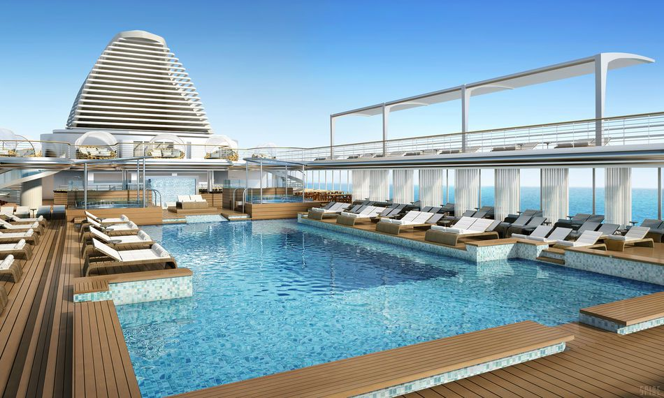 Pool Deck On Seven Seas Explorer Revealed The Luxury Cruise Company