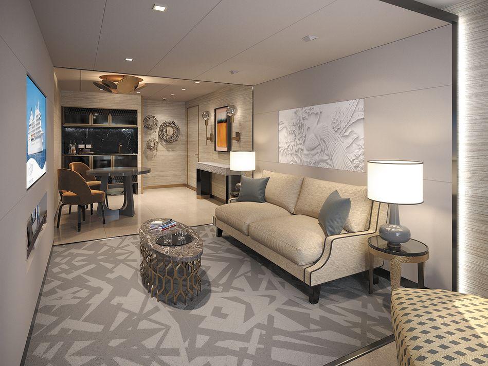 The Seven Seas Suite on Regent Cruises Seven Seas Splendor