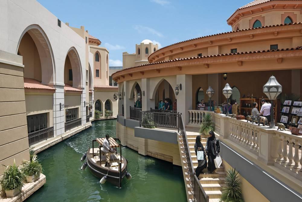 The hotel's waterways