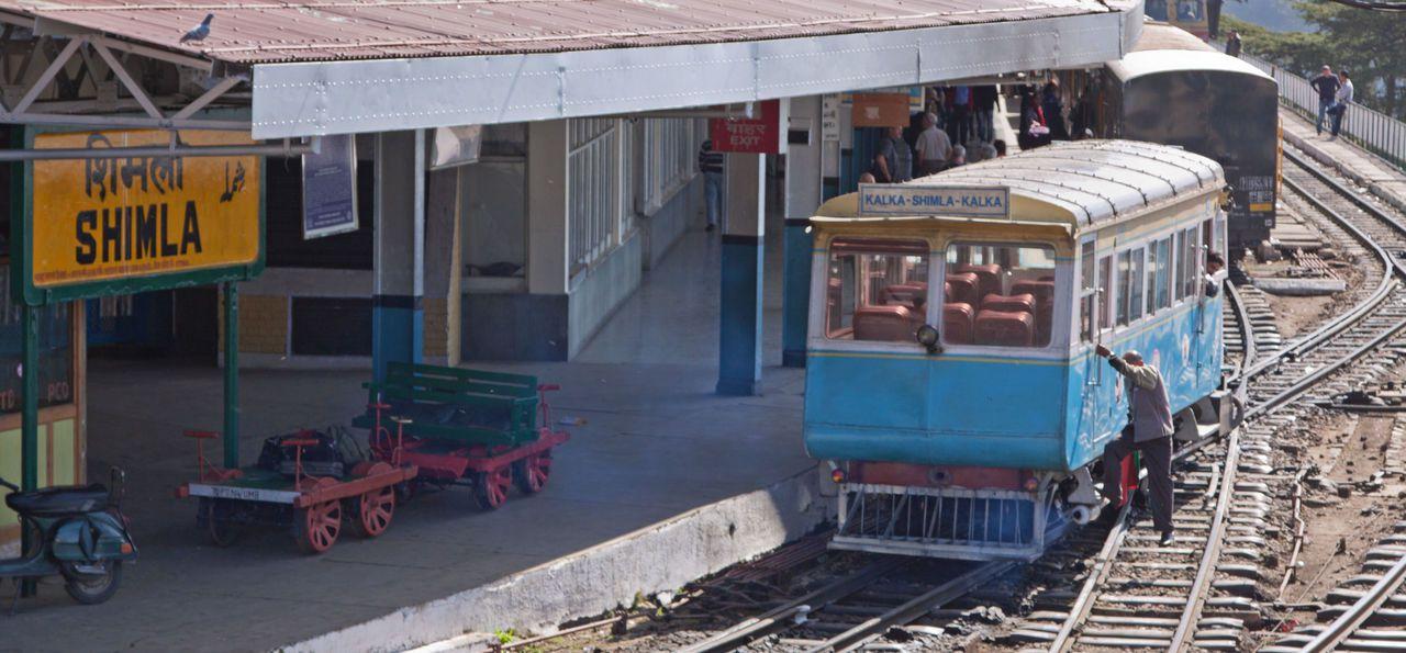 Shimla toy train in Hamachal Pradesh, India