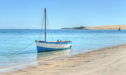 Ship on the shores of Bazaruto Island, Mozambique