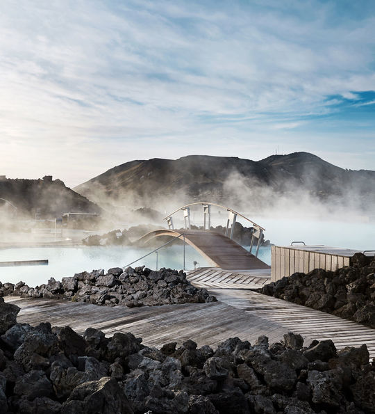 Silica Hotel's private geothermal bathing area