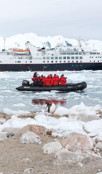 Silver Explorer in Antarctica