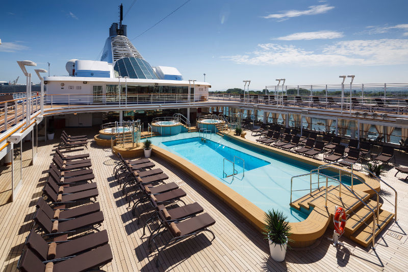 The new pool deck on Silver Spirit