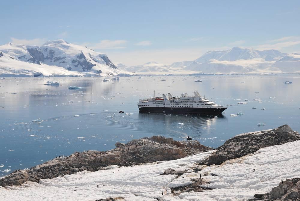 Silversea in Antarctica