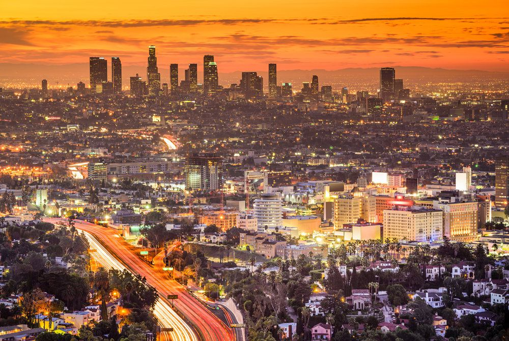 Skyline of Los Angeles, USA