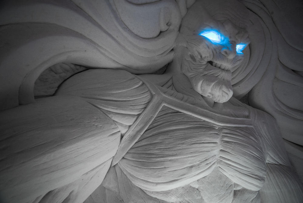 Icy Stare of the White Walker King, Game of Thrones at Snow Village, Finland