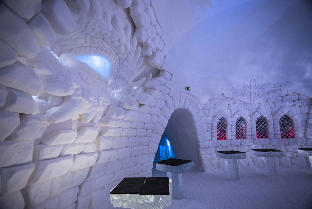 Game of Thrones Themed Chapel at Snow Village, Finland