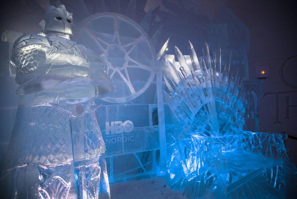 The Iron Throne at Snow Village, Finland