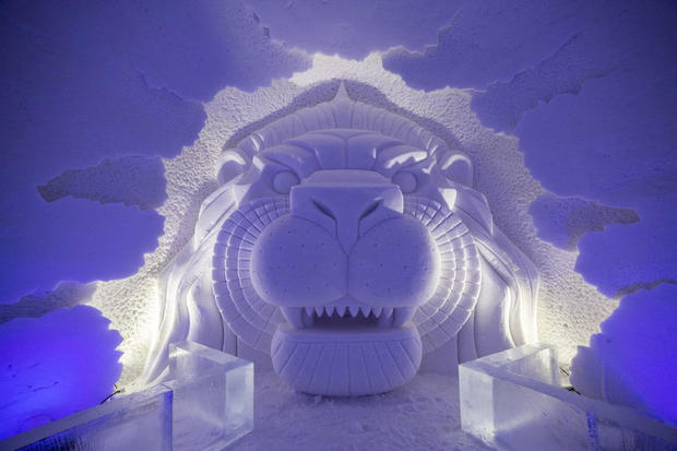The Lainio Snow Village (ice hotel) in Finnish Lapland