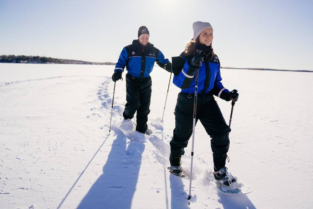 Snowshoeing at Apukka Resort