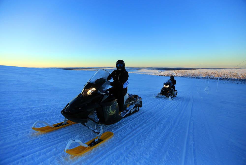 Snowmobiles, Teepee Wilderness Camp