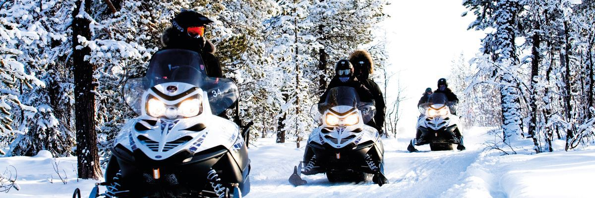 Snowmobiling, Swedish Lapland