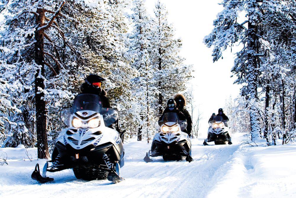 Snowmobile, Ice Hotel, Sweden