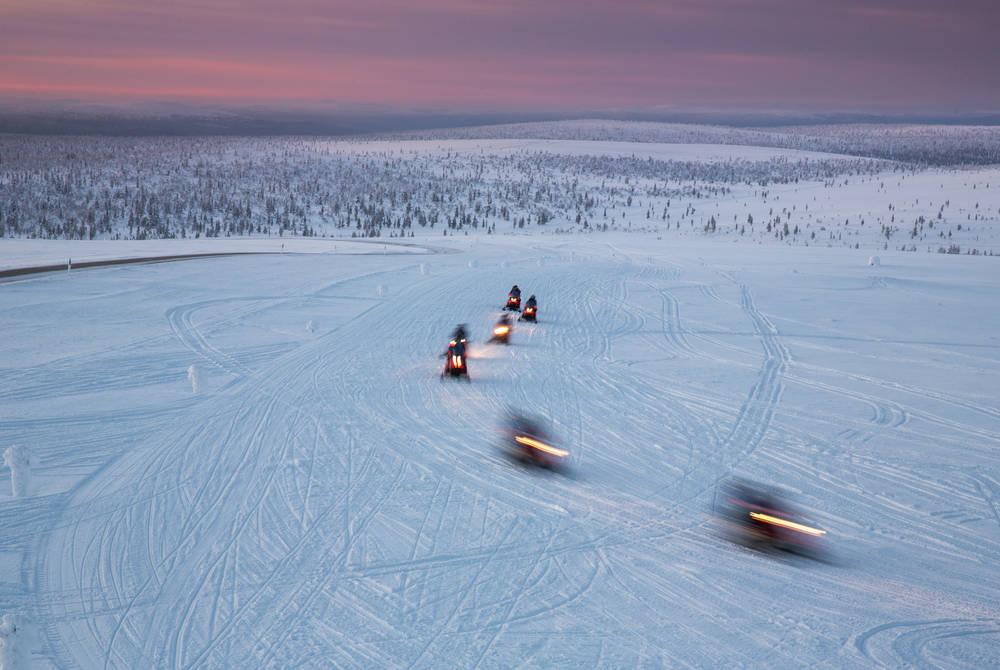 Snowmobiling, Finnish Lapland
