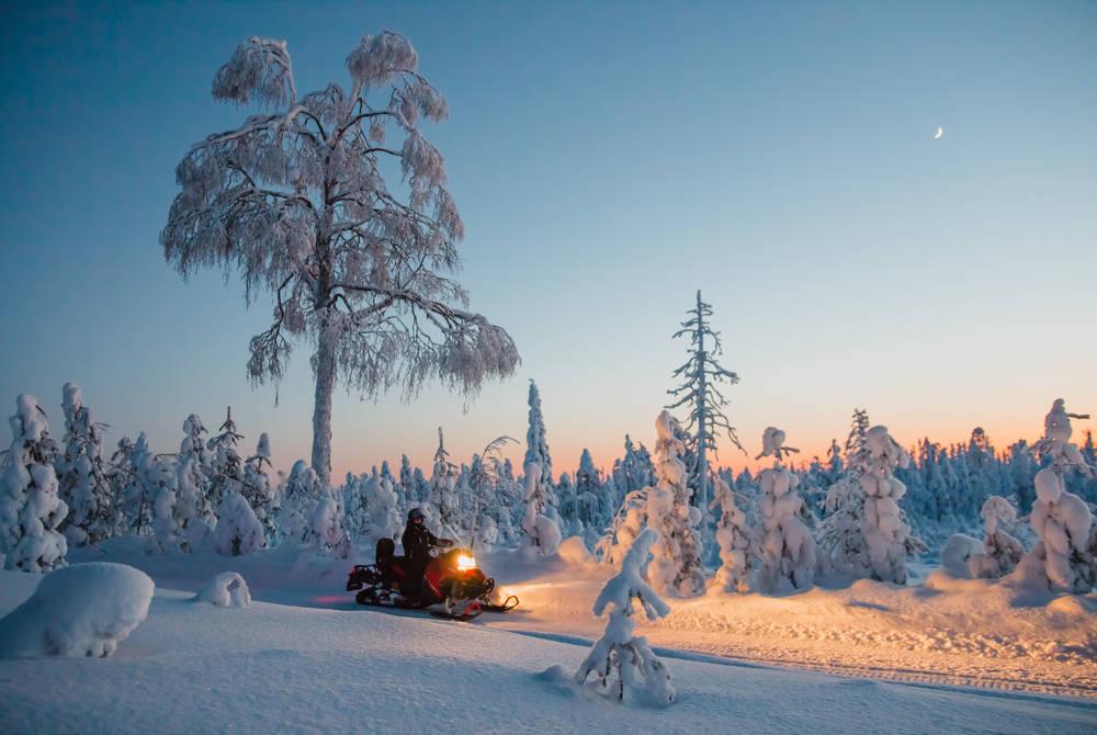 Snowmobiling, Rovaniemi