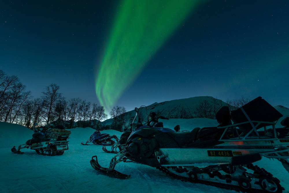 Snowmobiling, Tromso Ice Domes