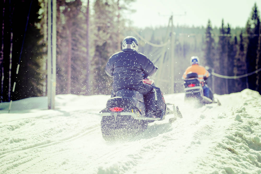 Snowmobiling in northern Norway
