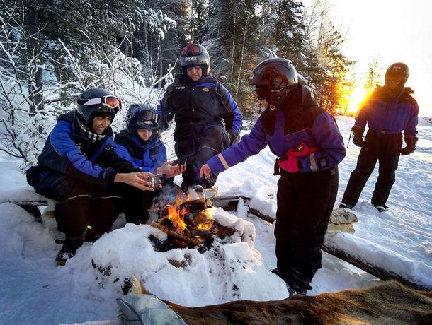 Snowmobiling on the Luleå Archipelago