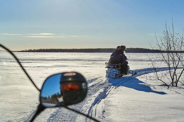 Snowmobile archipelago tour