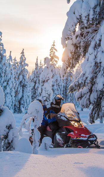 Snowmobiling tour, Rovaniemi