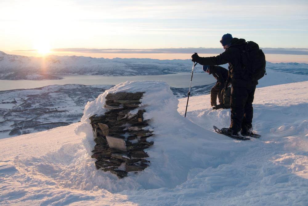 Snowshoeing excursion in Tromso and Balsfjord in Norway