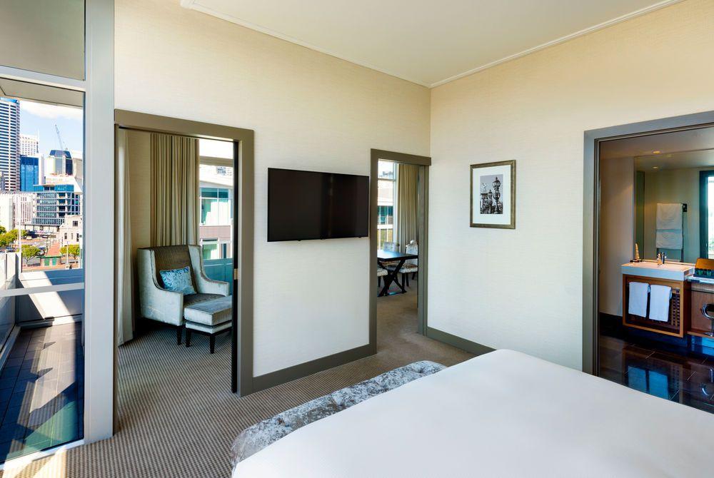 Sofitel Auckland deluxe suite bedroom, New Zealand