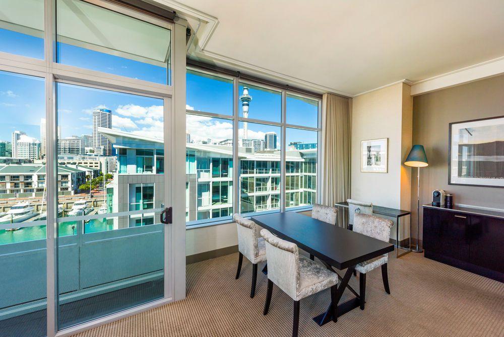 Sofitel Auckland deluxe suite lounge, New Zealand