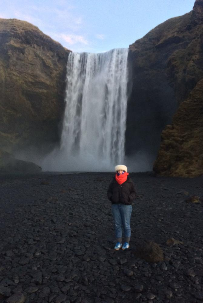 Sophie Cole Consultant at Skógafoss, Iceland