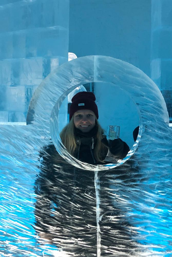 Sophie Sadler, Best Served Scandinavia, at ICEHOTEL in Sweden