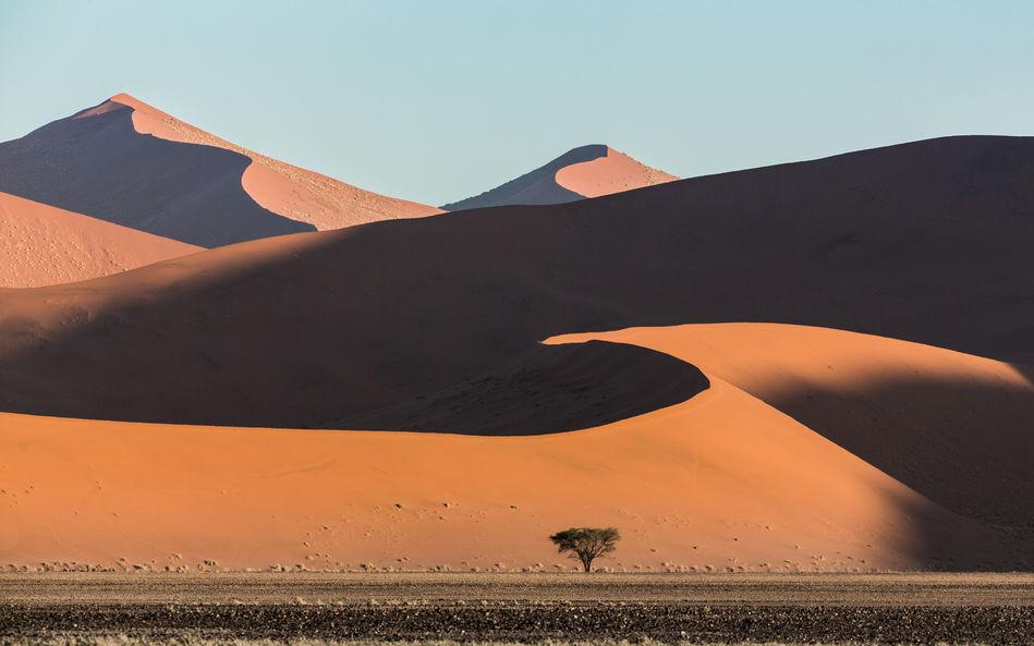 Sossusvlei sand dunes in Namibia