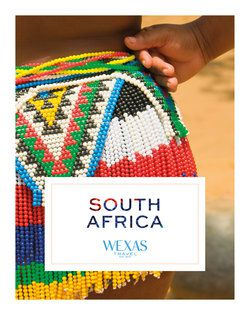 Cover for brochure South Africa