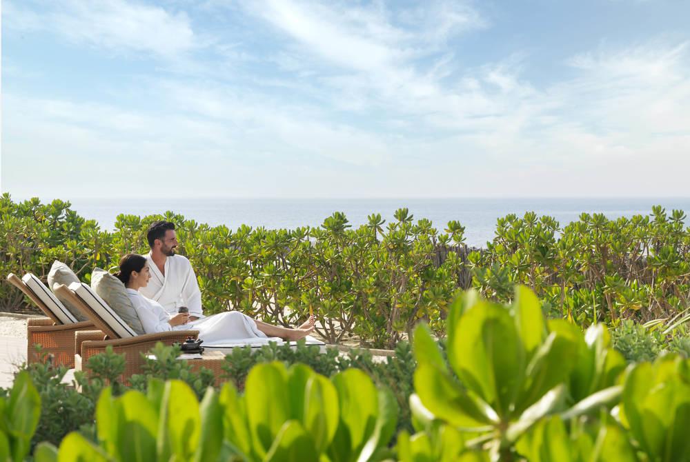 Spa terrace, Anantara Desert Islands Resort & Spa