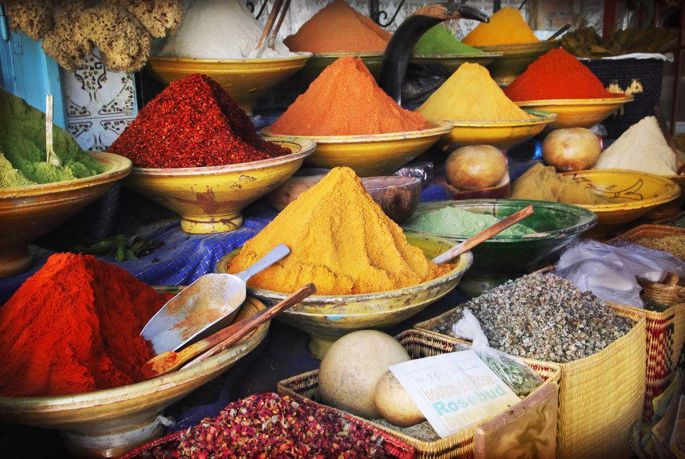 Spice market, Marrakech, Morocco