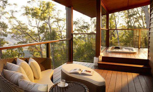 Bedroom lodge deck