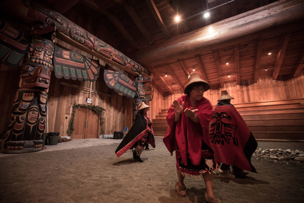 Kitasoo indigenous people, Spirit Bear Lodge, British Columbia, Canada