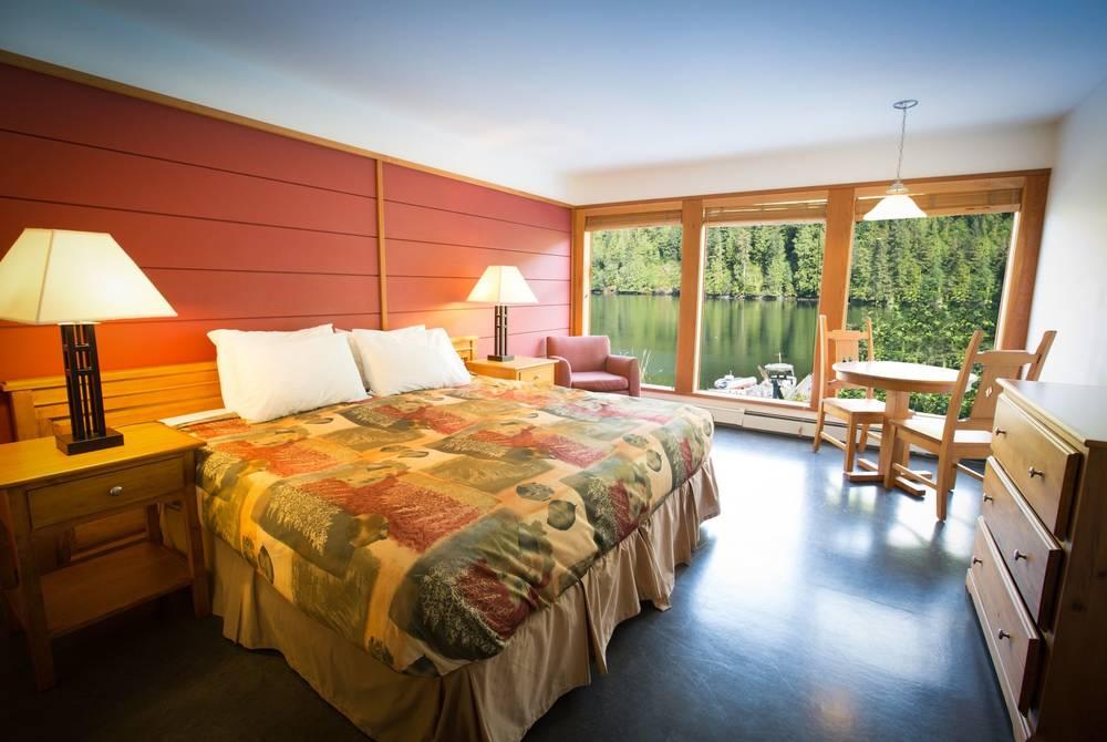 Bedroom, Spirit Bear Lodge, British Columbia, Canada