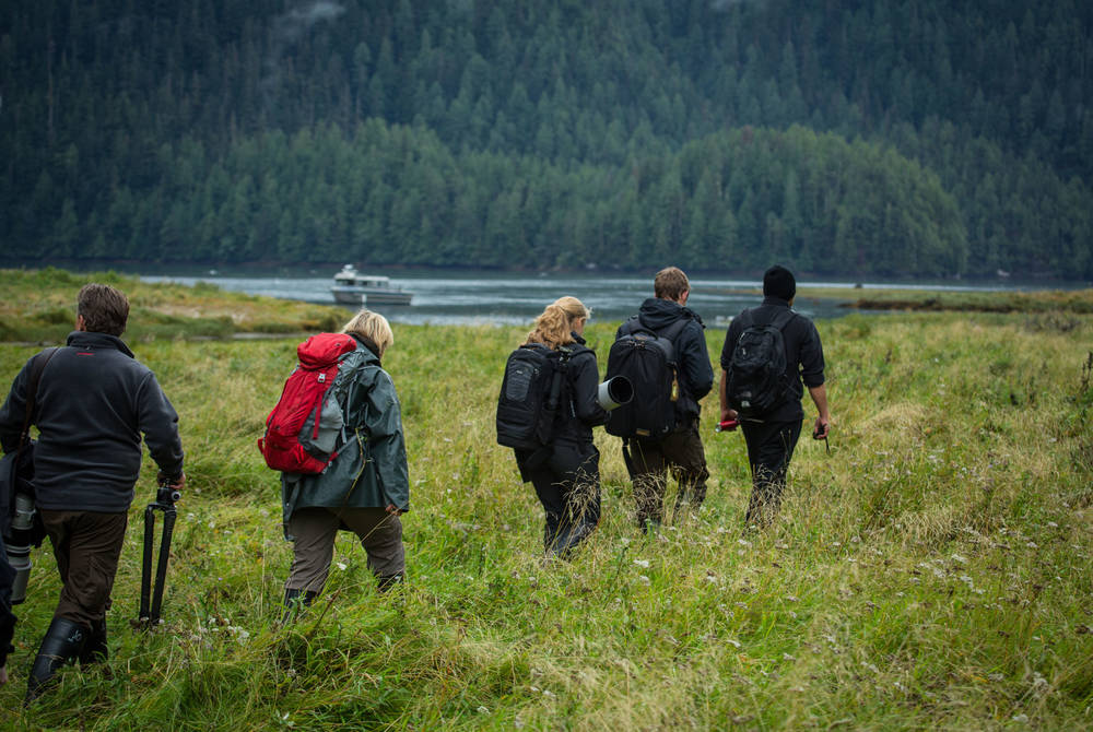 Wildlife walk, Spirit Bear Lodge, British Columbia, Canada