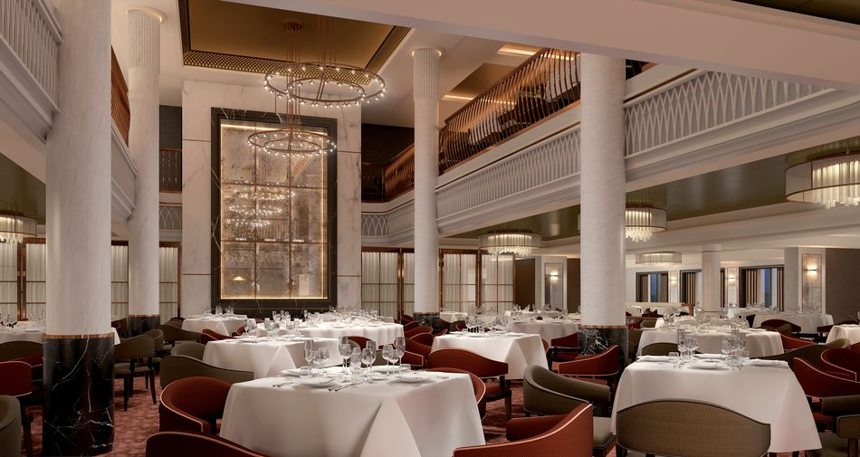 The Grand Dining Room on Spirit of Discovery