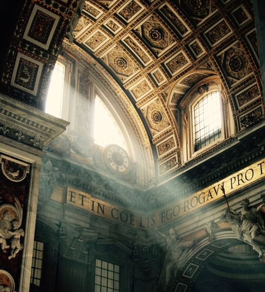 Interior of St. Peter's Basilica, Vatican City